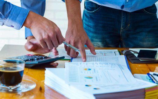 cálculo de indicadores financeiros